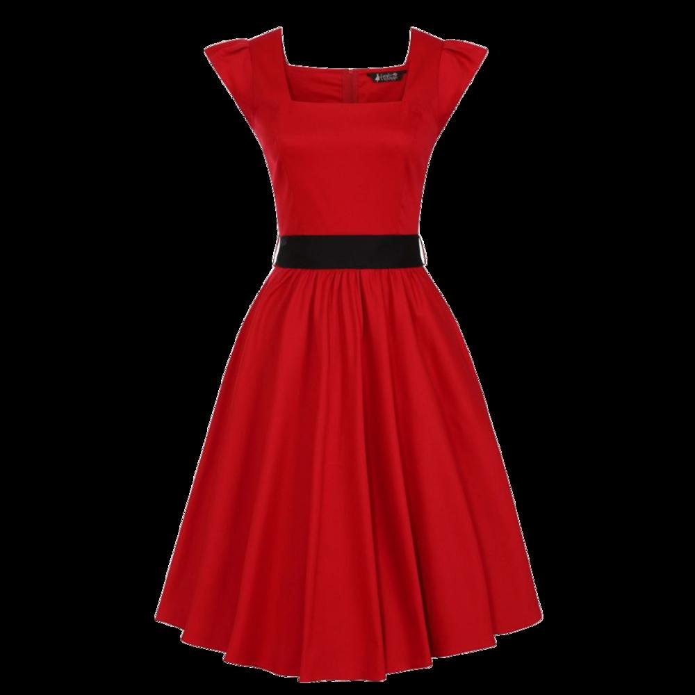 cervene-retro-saty-scarlet-cierna-masla-vhodne-na-svadbu