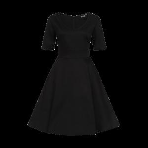 Čierne retro šaty Josie s rukávmi