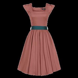 Retro šaty Scarlet v jemne oranžovej