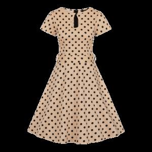Vintage šaty Judy krémové bodkované