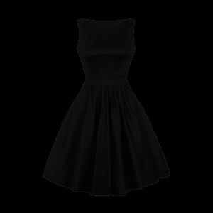 Čierne Retro šaty Abby