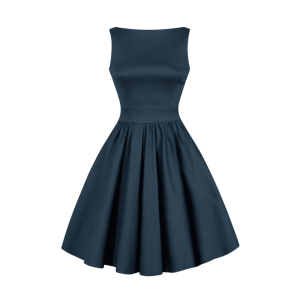 Tmavomodré retro šaty Abby