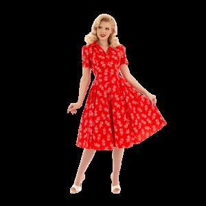 Červené retro šaty Ruby
