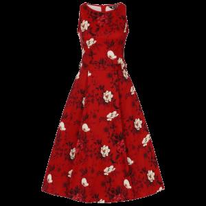 Červené šaty Audry divoké ruže