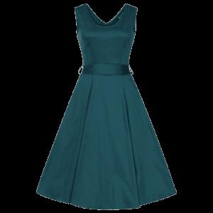 Petrolejové retro šaty Charlotta