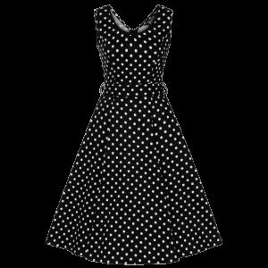 Čierne šaty Charlotta s bodkami