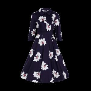 Retro šaty Grace tmavofialové