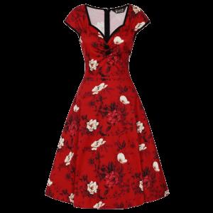 Retro šaty Isabella divoké ruže