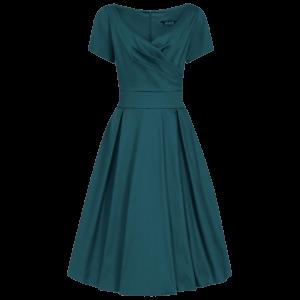 Petrolejové vintage šaty Jane