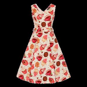 Krémové šaty Charlotta s muffinmi