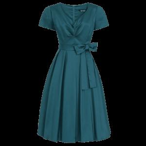 Retro šaty Iris petrolejová farba