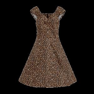 Retro šaty pre moletky s bolerom Leopard