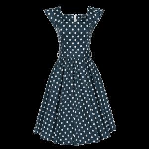 Modré šaty Scarlet bodkované
