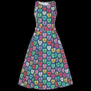 Retro šaty Audry sladké srdiečka