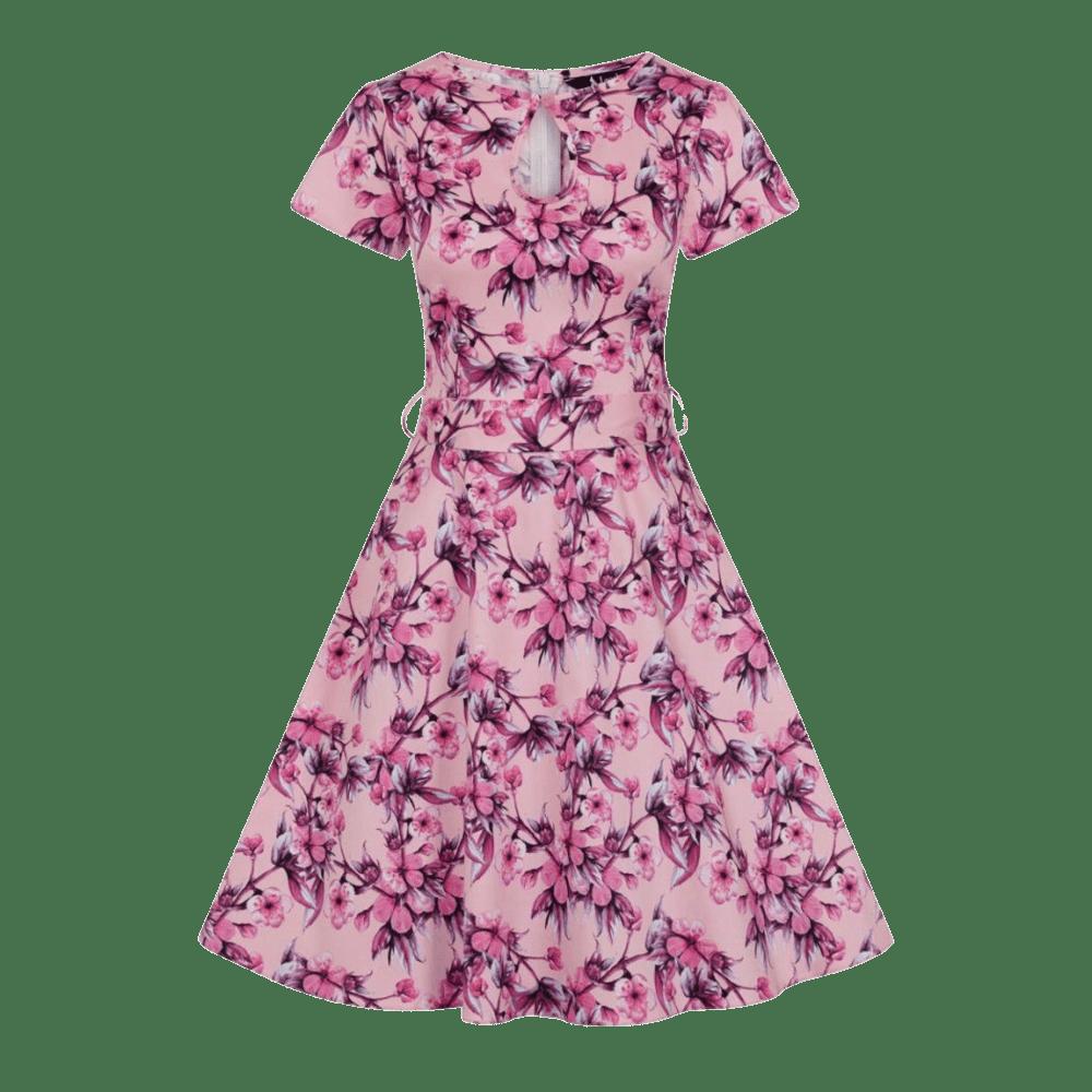ruzove-vintage-saty-judy-kvety-kratky-rukav
