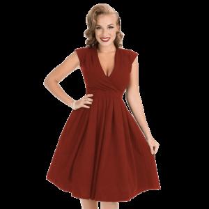Vintage šaty Eva vo vínovej farbe