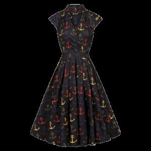 Vintage šaty Eva námornícky vzor