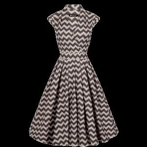 Vintage šaty Eva zig zag vzor