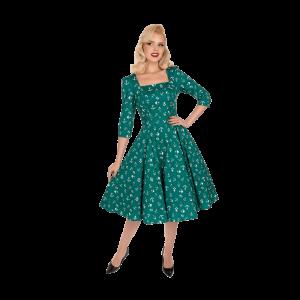 Zelené šaty s námorníckym motívom