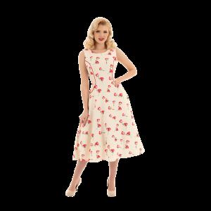 Béžové romantické retro šaty