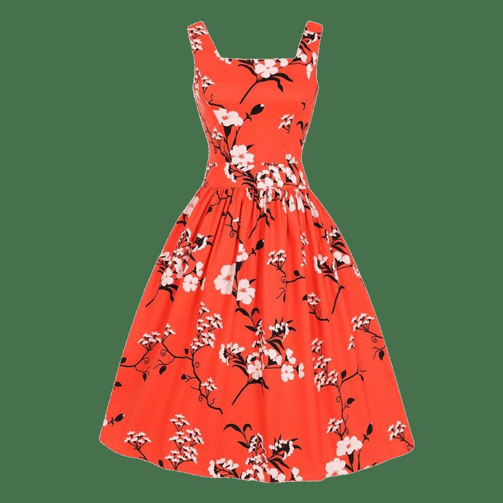 retro-saty-cervene-oranzove-kratke-dirdle