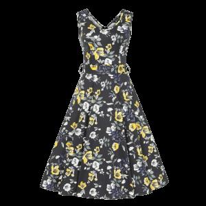 Šaty Charlotta zlaté kvety