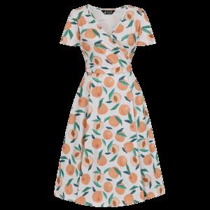 Šaty Lyra broskynka