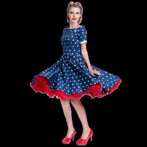 Šaty swingové modré